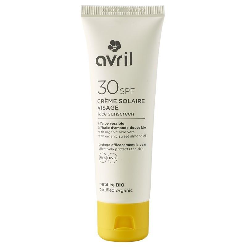 Crème solaire visage Avril